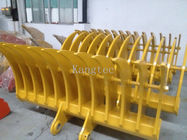 45 Degree Tilting Root Rake Bucket For Excavator , Mini Excavator Rake Loosen Soil
