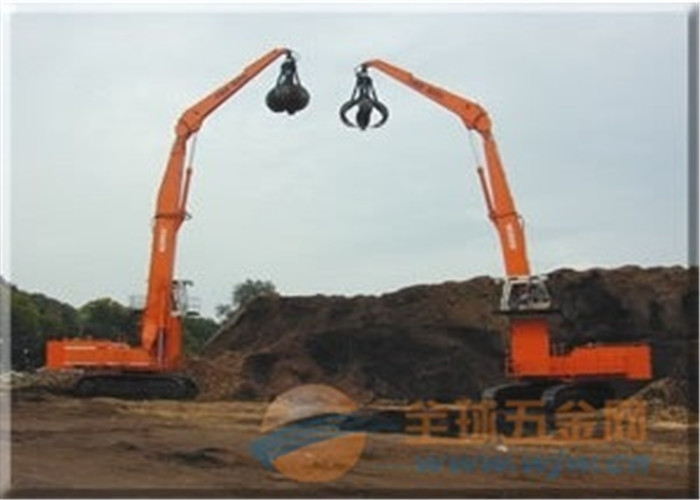 Earthmoving Hydraulic Orange Peel Grab Doubl Shell CAT Excavator Attachments