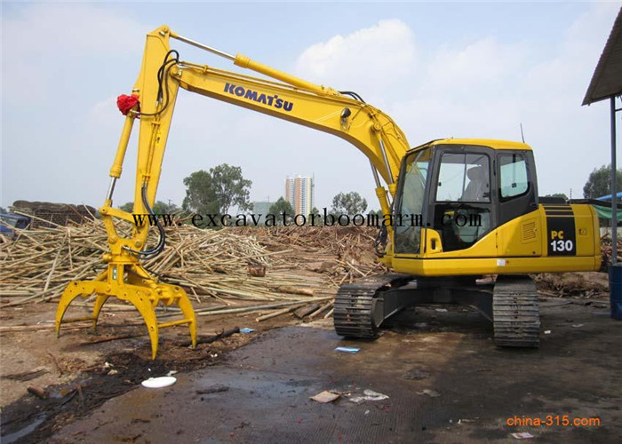 Hydraulic Log Grapple For Excavator , 360 Degree Rotating Wood / Stone Grapple
